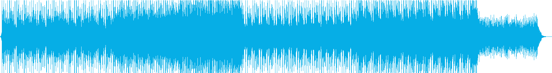 深いバックグラウンドミュージックの再生済みの波形