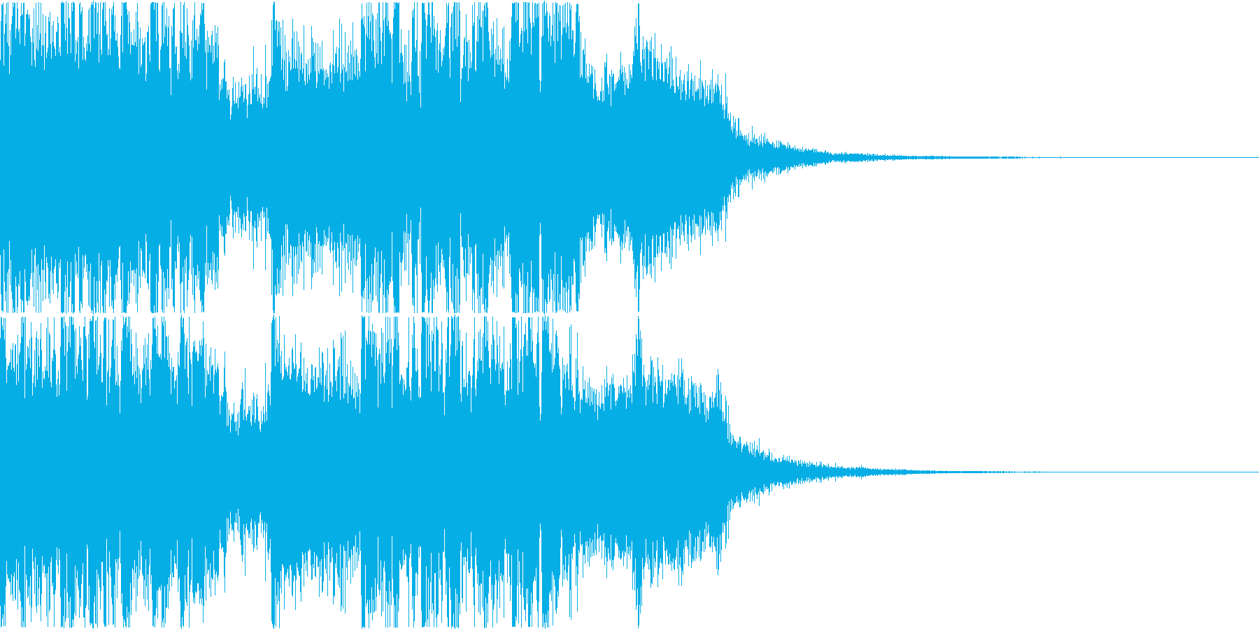 三味線・箏・尺八・和太鼓・ジングル08の再生済みの波形