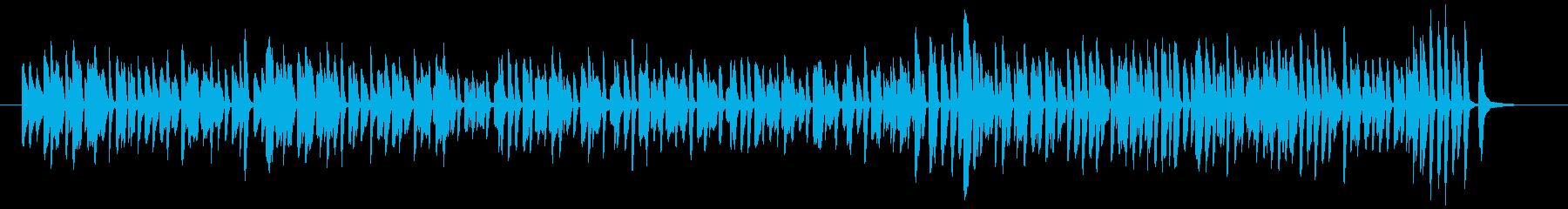 お洒落なジャズ風のピアノ曲です。の再生済みの波形