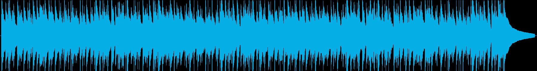 web広告 軽快なウクレレ曲の再生済みの波形