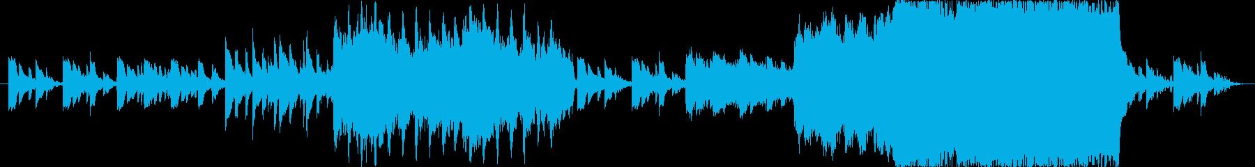 感動的で壮大に切ない透明感のあるBGMの再生済みの波形
