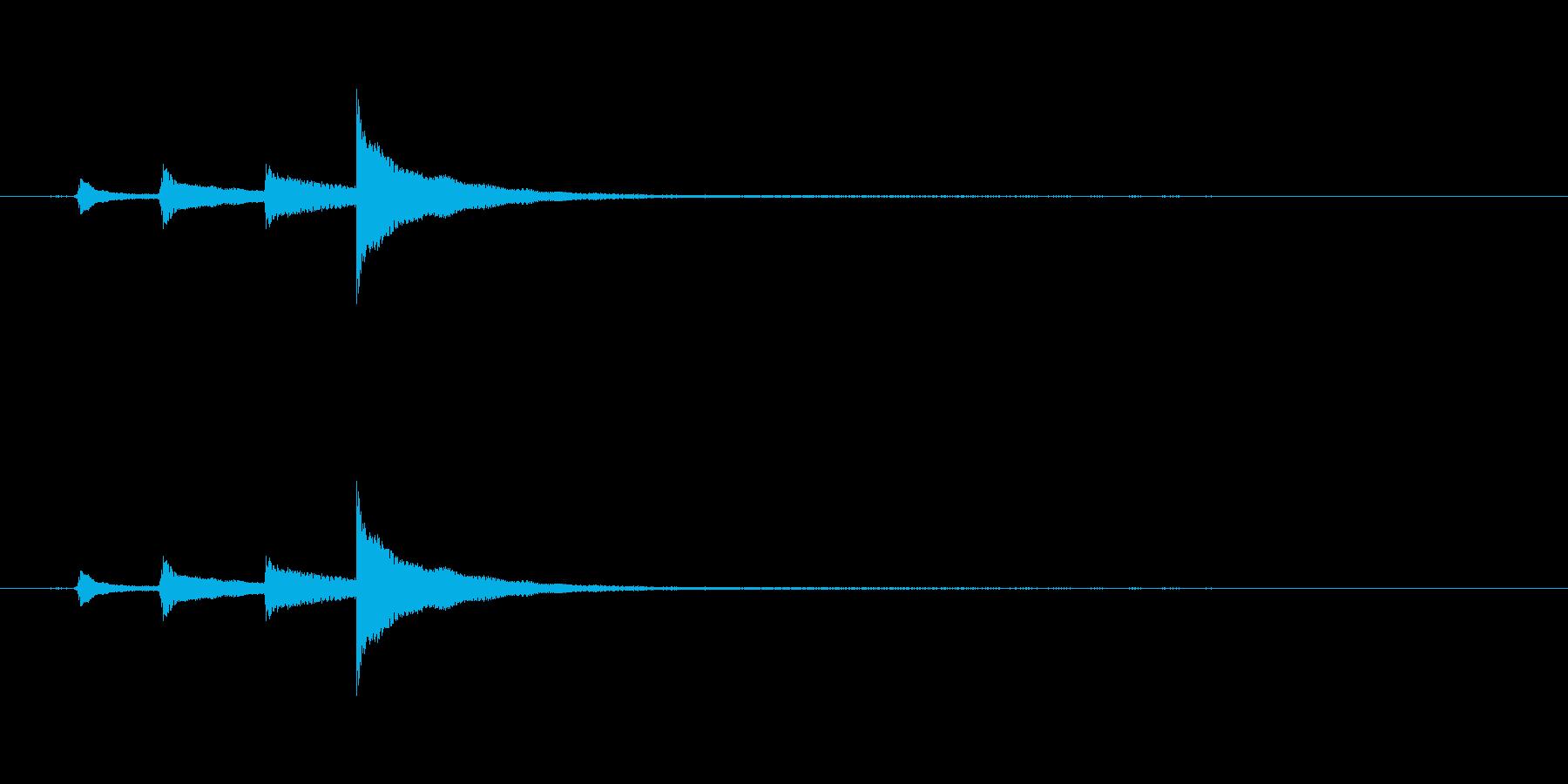【生音】ウクレレの「ぽろろろーん」上昇音の再生済みの波形