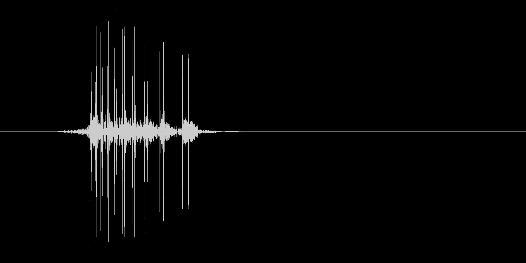 ゲーム(ファミコン風)ヒット音_042の未再生の波形