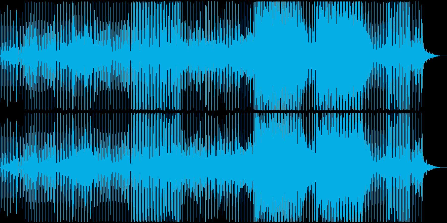 静かでシンプル幸せな感じのテクノの再生済みの波形