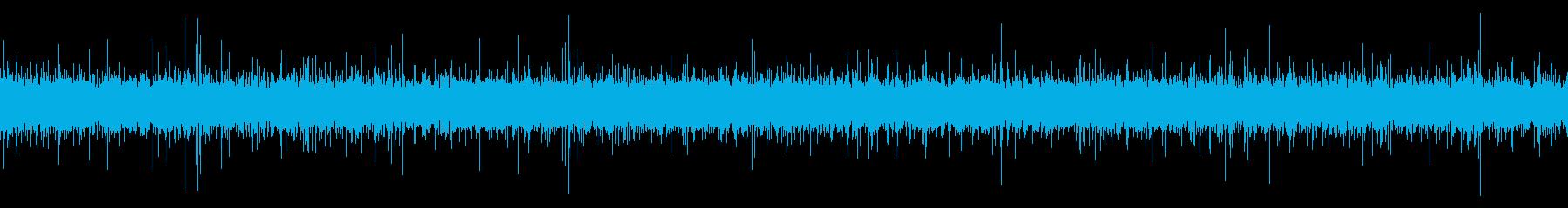 小川の音の再生済みの波形