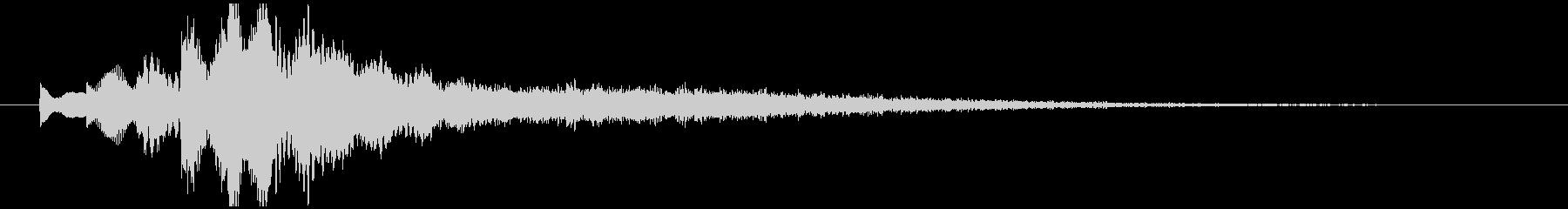 起動音 シンプル クール システムオン3の未再生の波形