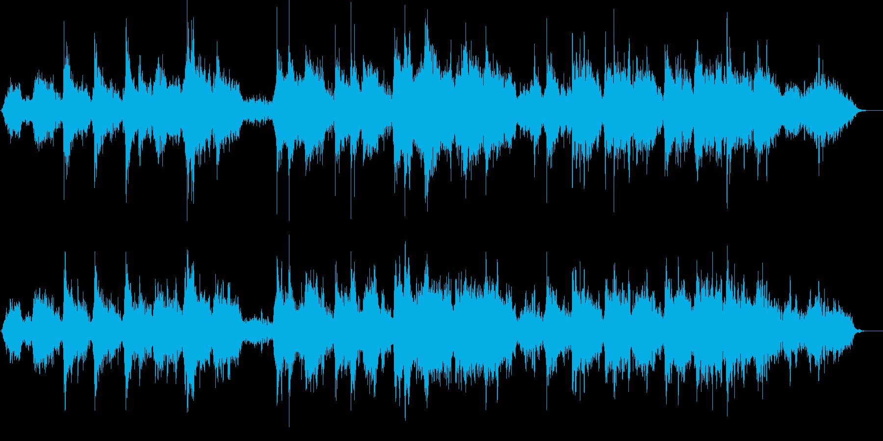 とても神秘的なメロディの再生済みの波形
