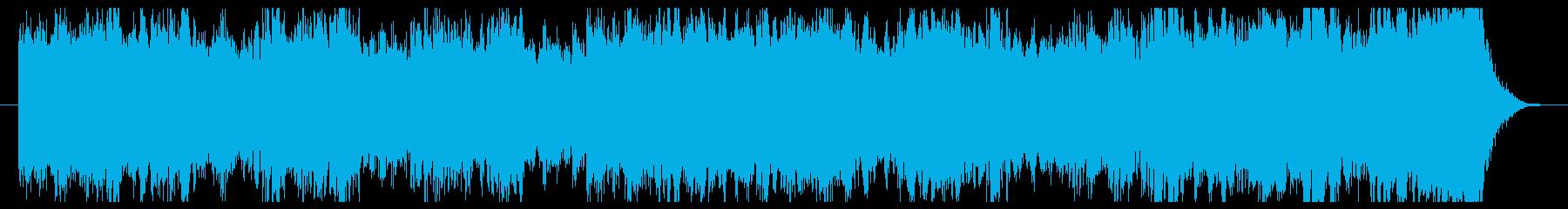 期待・緊張を感じるオープニング向けBGMの再生済みの波形