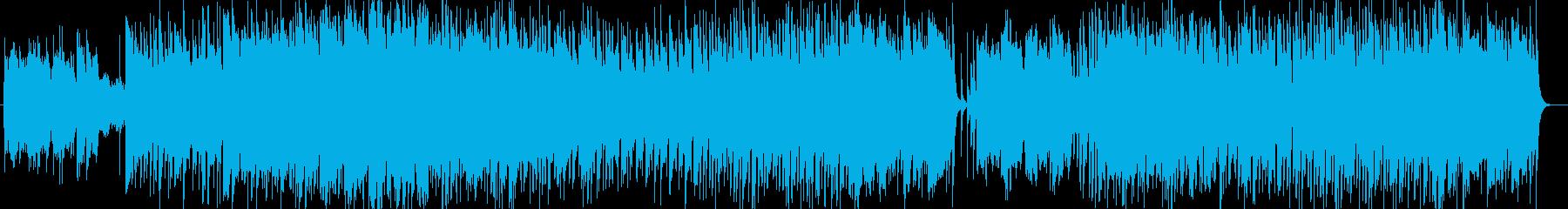 爽やかな風シンセサイザーサウンドの再生済みの波形