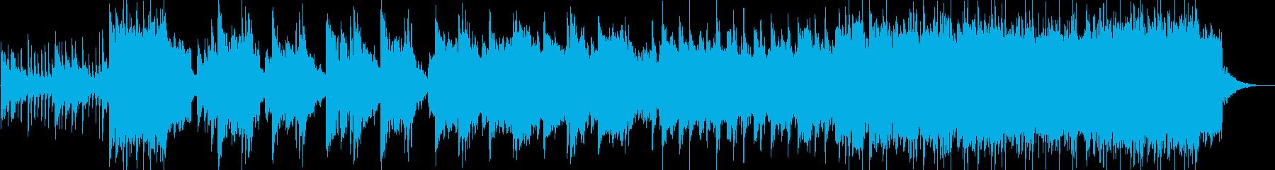 和風オーケストラ感動オープニングの再生済みの波形