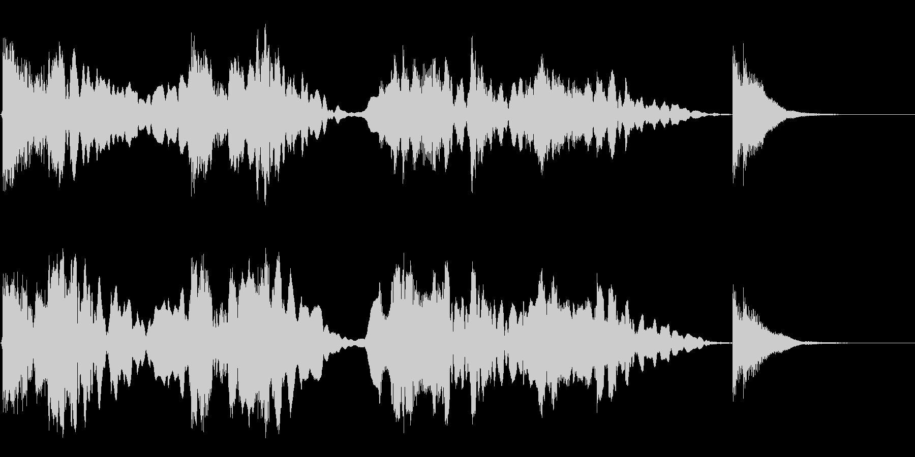 尺八と三味線のジングルの未再生の波形