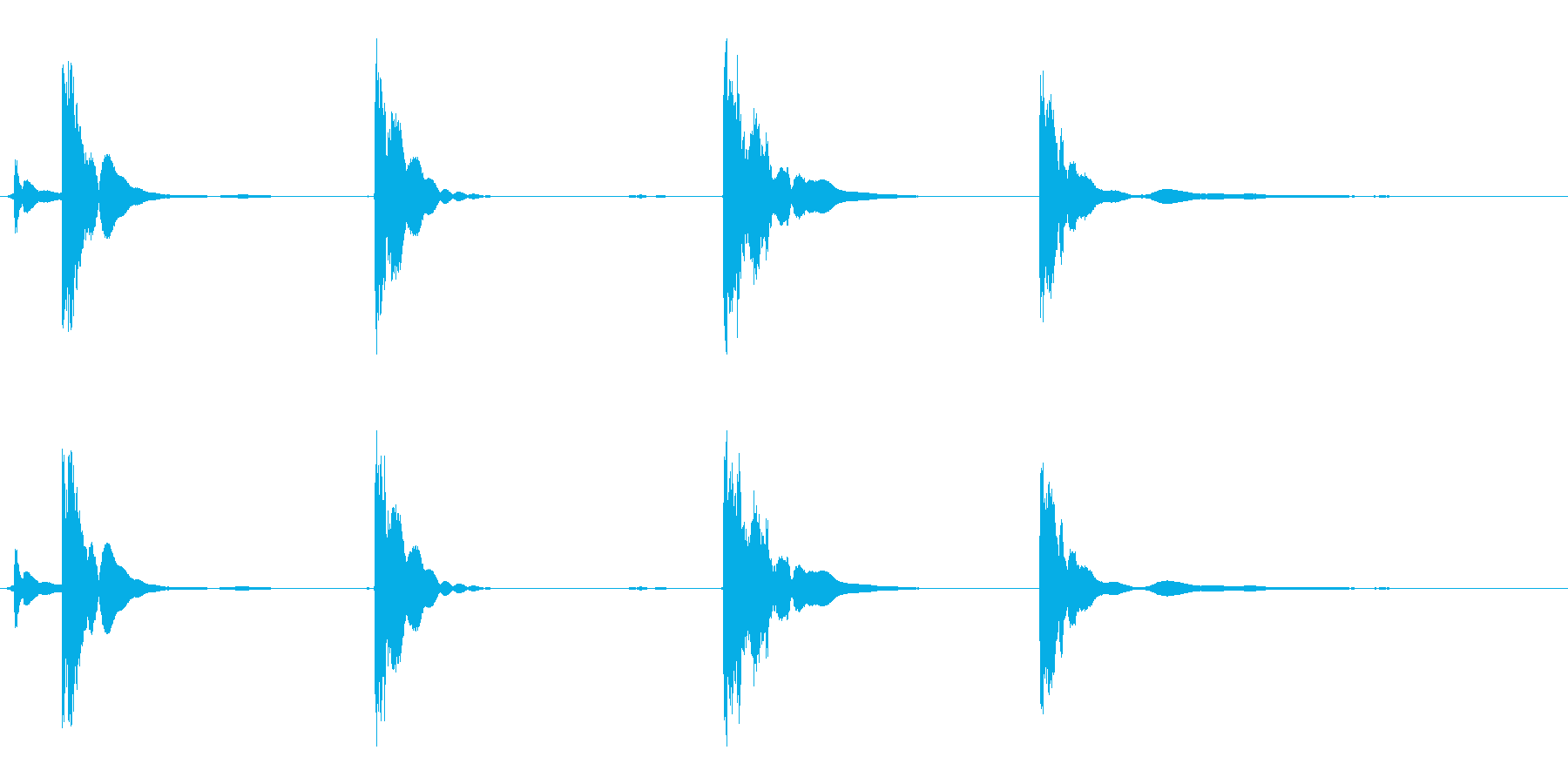 空の五十五ガロンドラム:いくつかの...の再生済みの波形