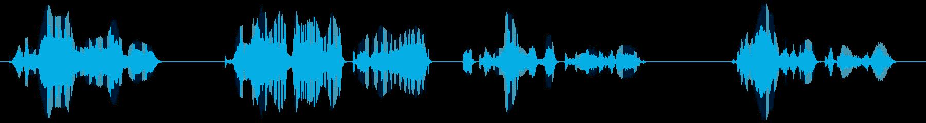 都合により、このお電話からはお繋ぎでき…の再生済みの波形