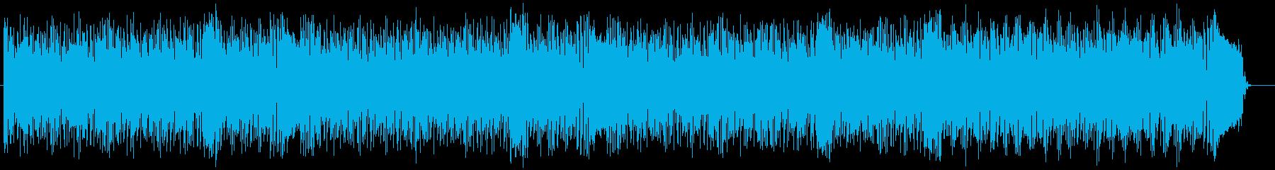 走り出すようなテクノポップの再生済みの波形