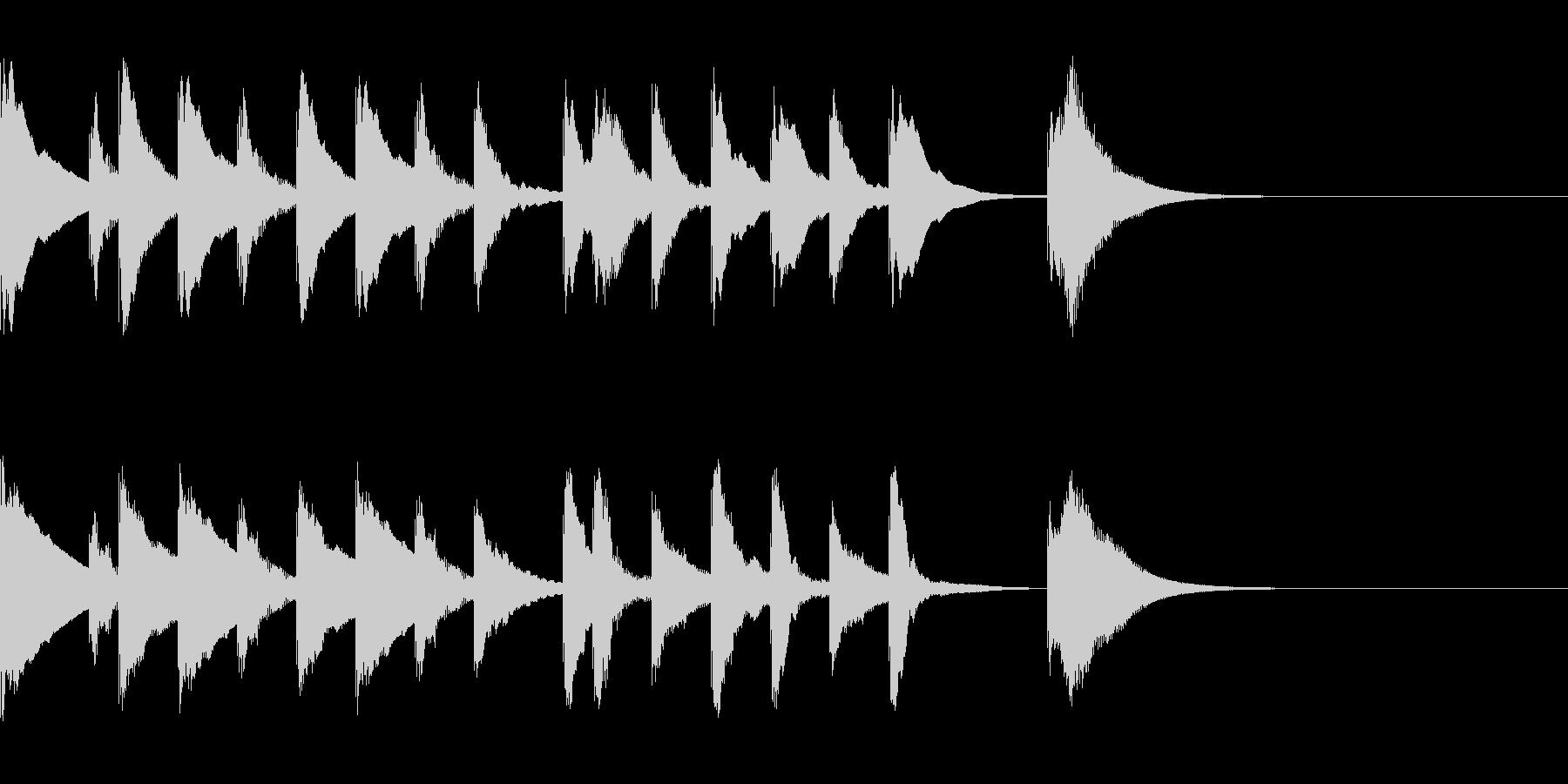 シロフォンのかわいい5秒ジングルの未再生の波形