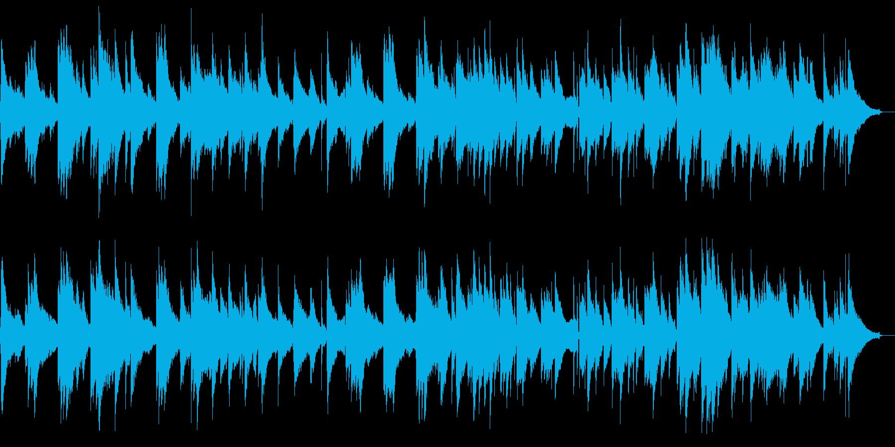 スローなジャズテイストのBGMの再生済みの波形