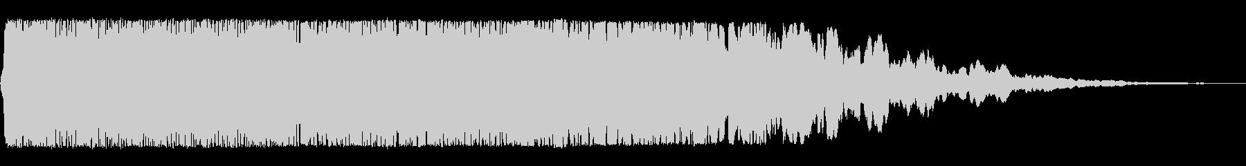 ヒユ〜〜(巨大な宇宙船の通過、着陸音)の未再生の波形