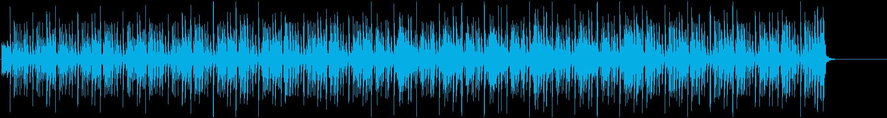 スキップの様に軽く明るいBGMの再生済みの波形