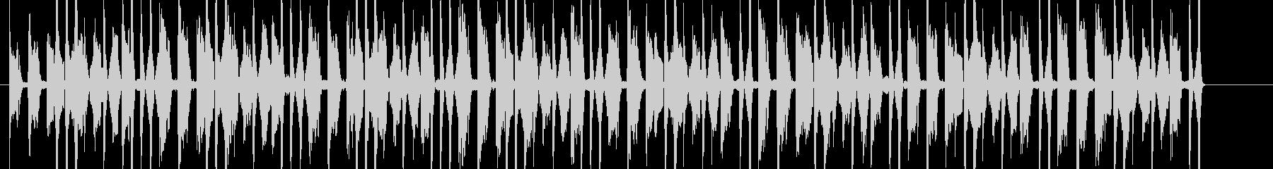ゲームに合う四つ打ちの元気な短い曲の未再生の波形