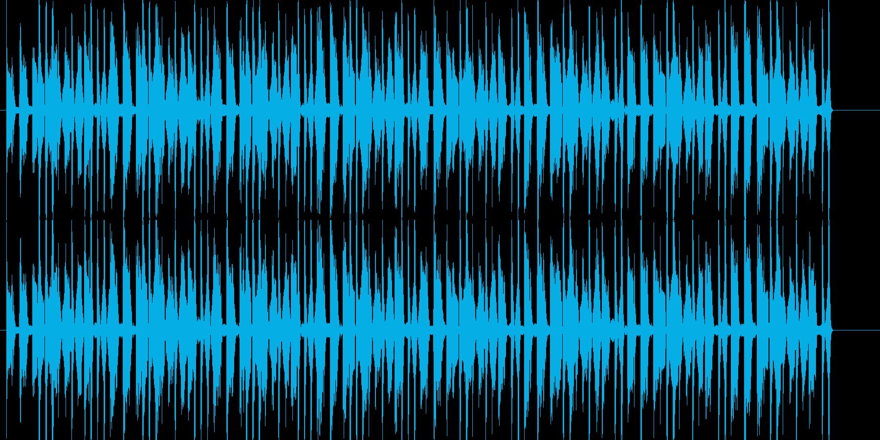 ゲームに合う四つ打ちの元気な短い曲の再生済みの波形