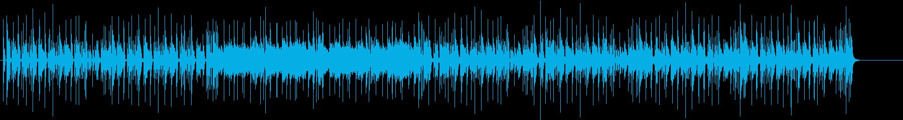 funkyな楽曲の再生済みの波形