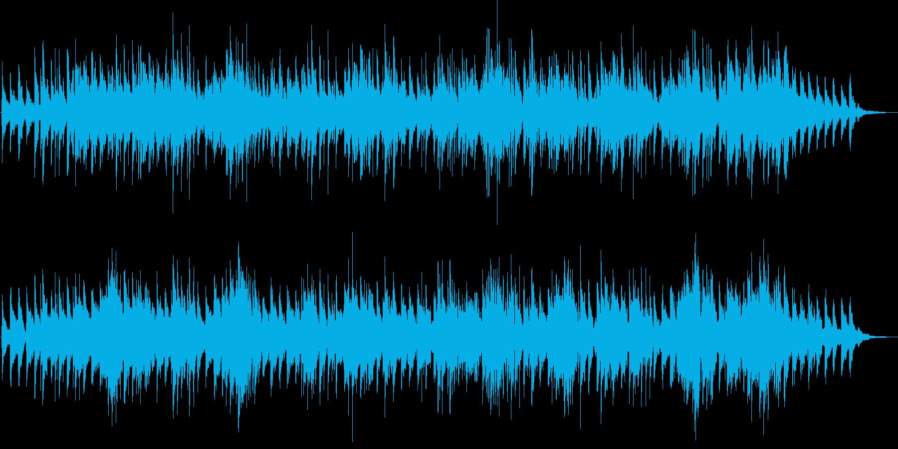 南の島の雰囲気の笛のBGMですの再生済みの波形