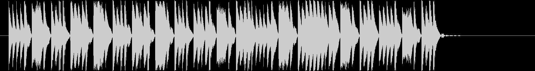教育番組のシーン転換に使えるジングルの未再生の波形