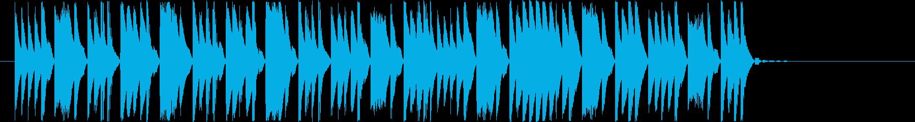教育番組のシーン転換に使えるジングルの再生済みの波形