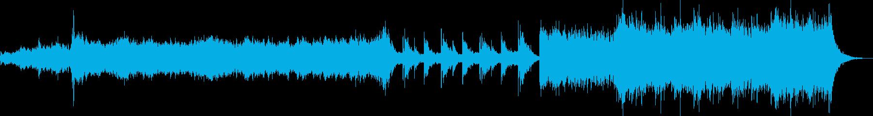 重厚感と迫力のあるオーケストラの再生済みの波形