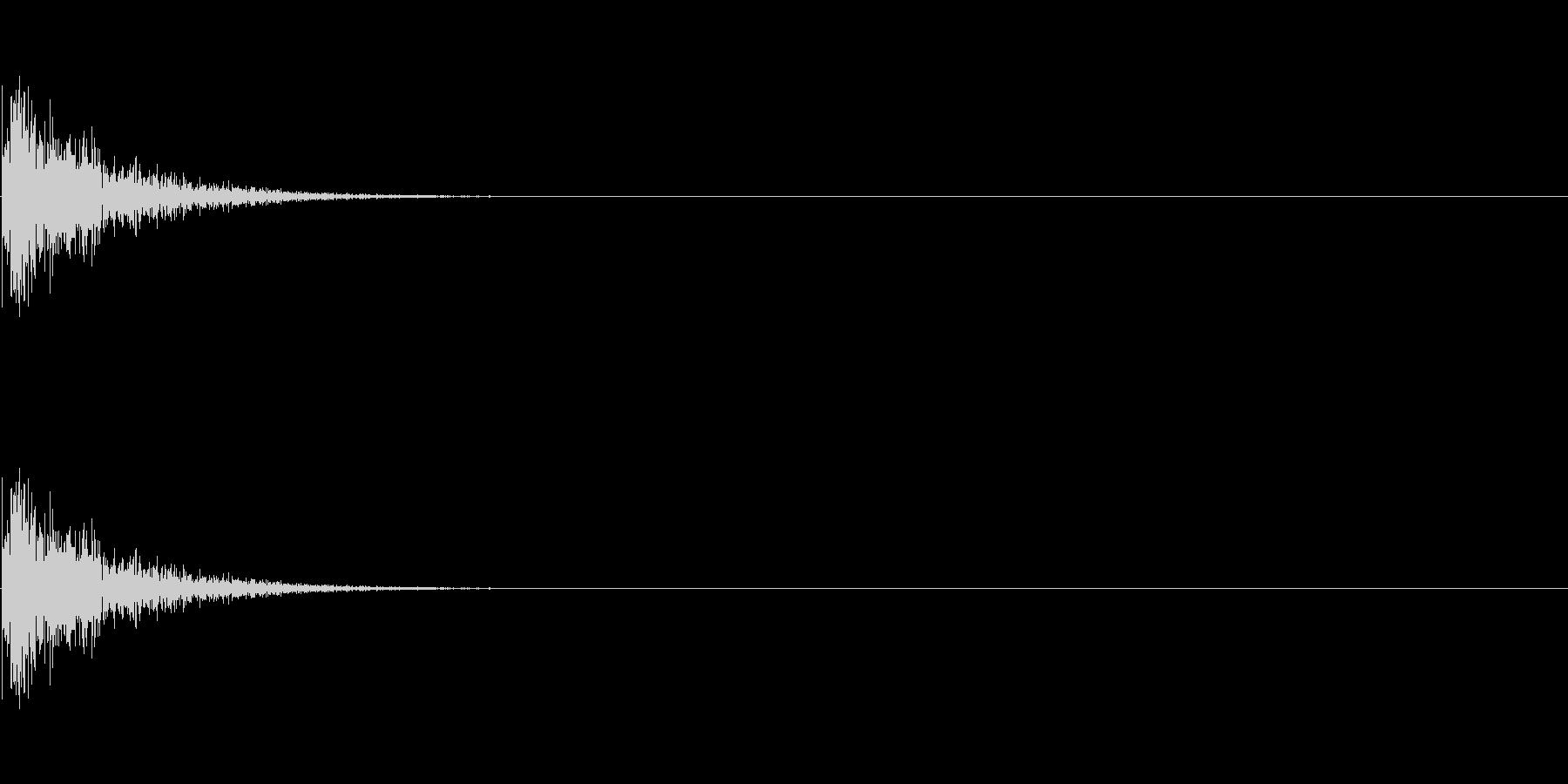 LoFiドラムキット04-HHクローズの未再生の波形