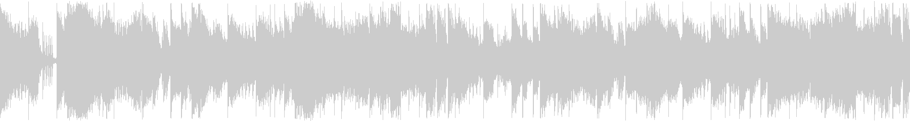 【ループ再生】スタイリッシュなEDMの未再生の波形