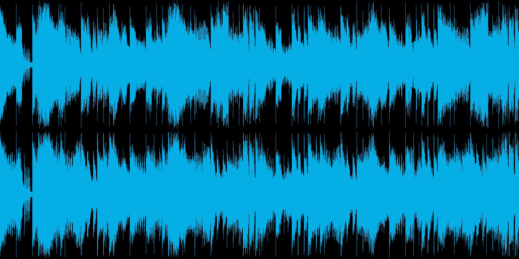 【ループ再生】スタイリッシュなEDMの再生済みの波形