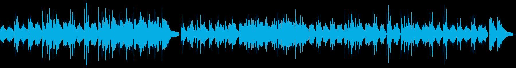 なつかしさを感じるようなソロピアノの再生済みの波形