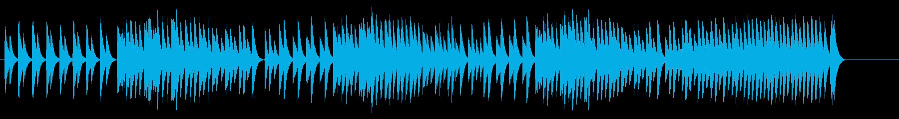 3拍子のオルゴール子守唄の再生済みの波形