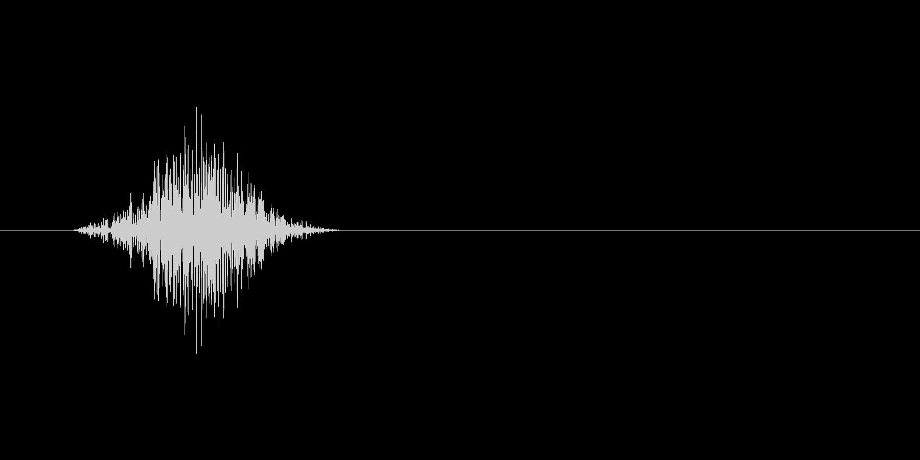 スワイプ.タップ.ページ送り音 01の未再生の波形