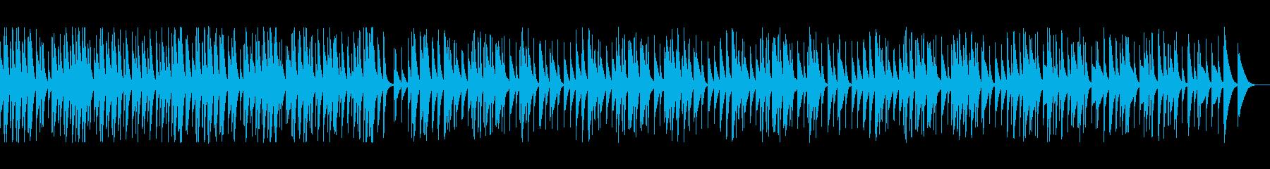 軽快で牧歌的な木琴の再生済みの波形