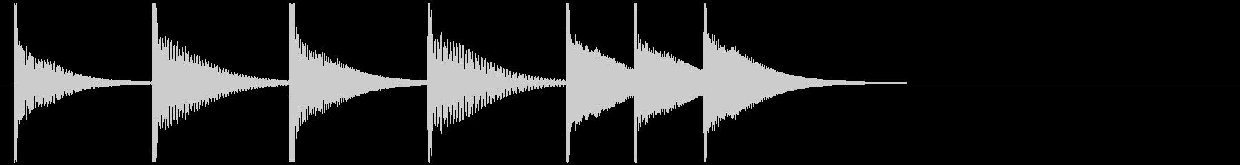 カリンバの不思議かわいいジングルの未再生の波形