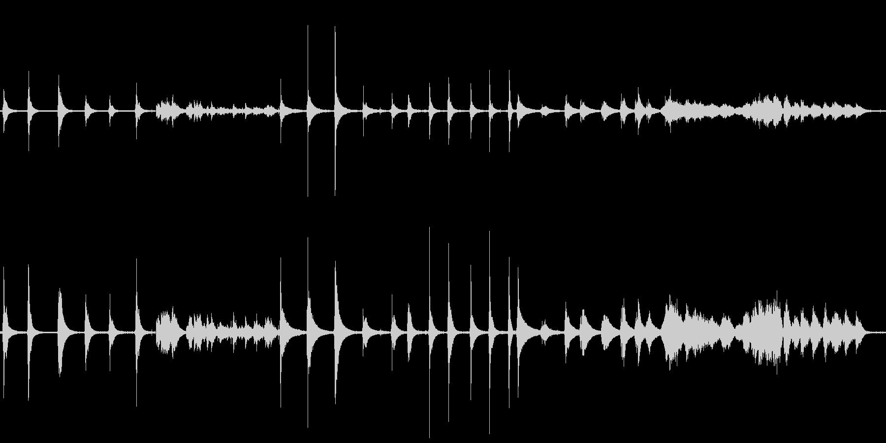 ベルマジックボール多数の未再生の波形