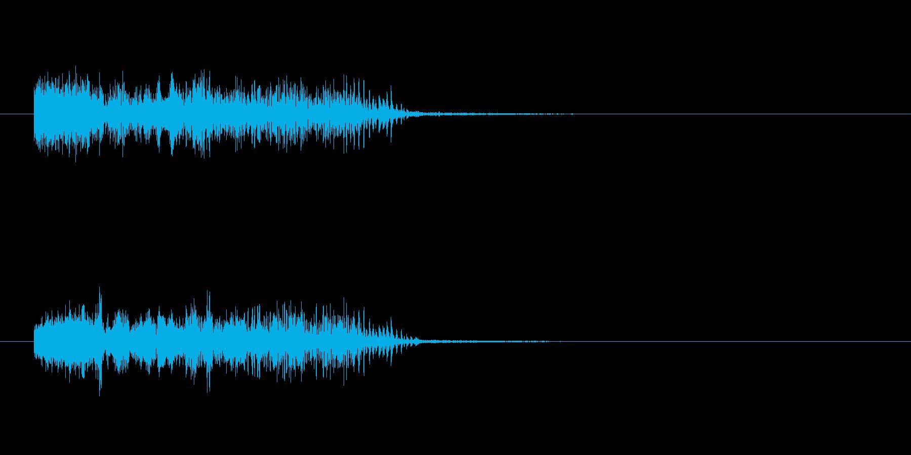 ソイヤー(お祭りなどの掛け声)の再生済みの波形