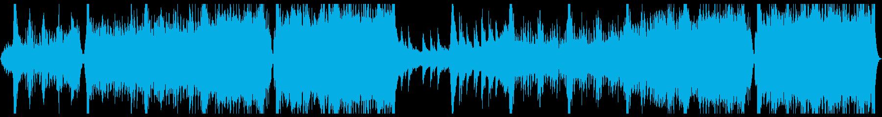 疾走感のある戦闘シーン的なBGMの再生済みの波形