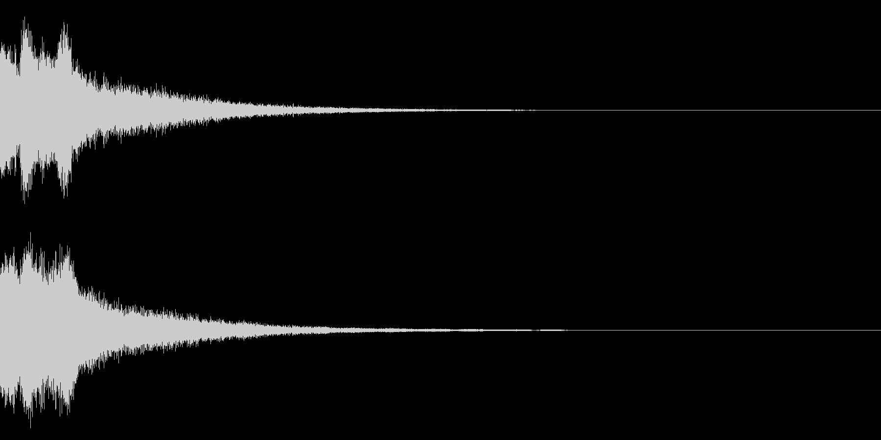 ピンポンピンポン!キラキラ光る正解音03の未再生の波形