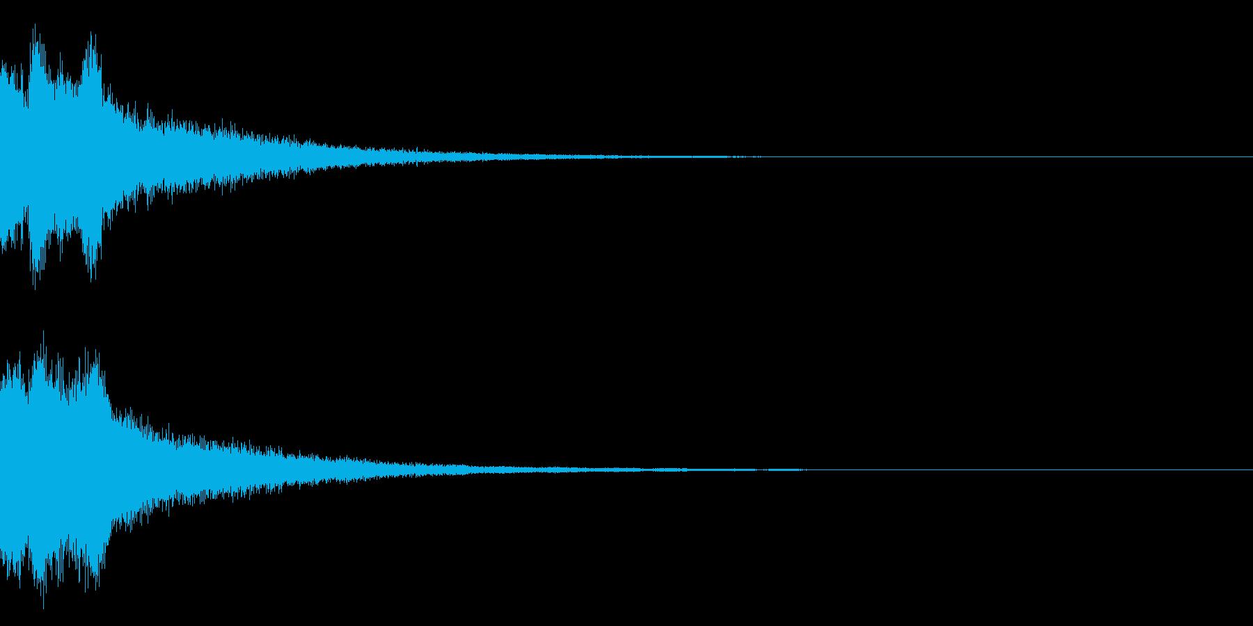 ピンポンピンポン!キラキラ光る正解音03の再生済みの波形