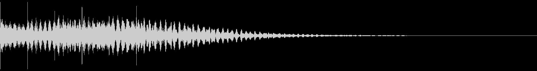マリンバのジングル。決定、レベルアップ。の未再生の波形