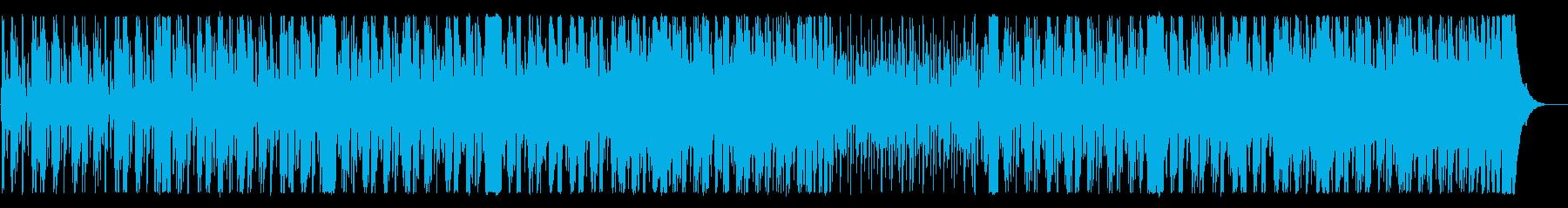 シリアスで緊迫感のあるメロディーのBGMの再生済みの波形