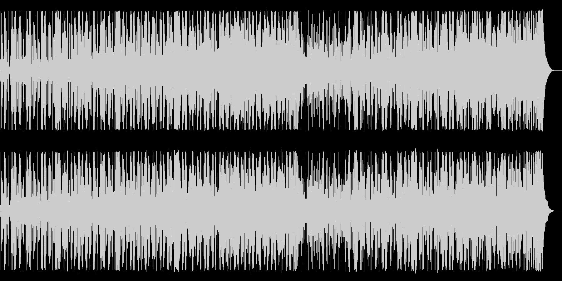 シリアスで緊迫感のあるメロディーのBGMの未再生の波形