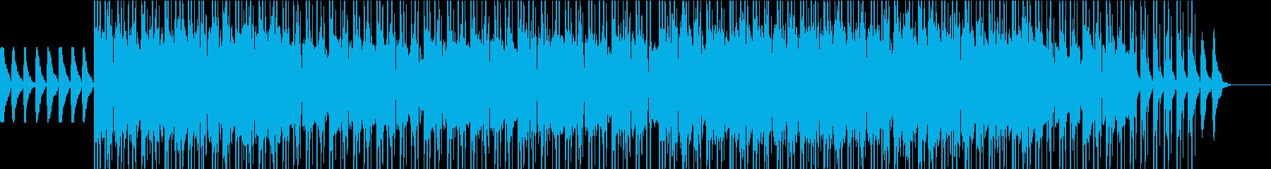 オシャレな雰囲気のBGMの再生済みの波形