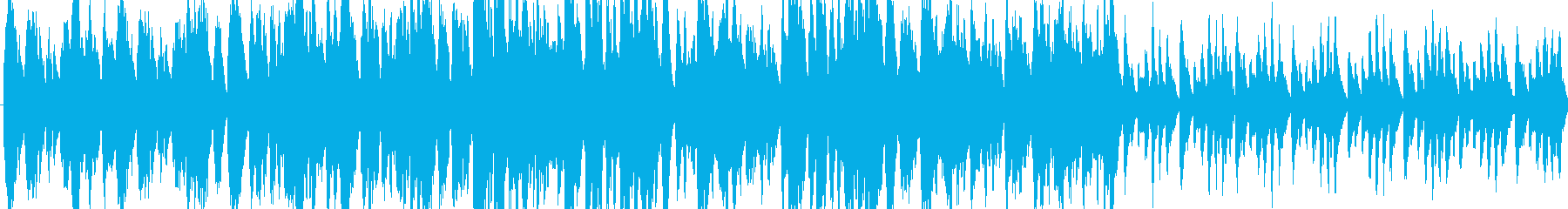 動画用ほのぼのループBGMの再生済みの波形