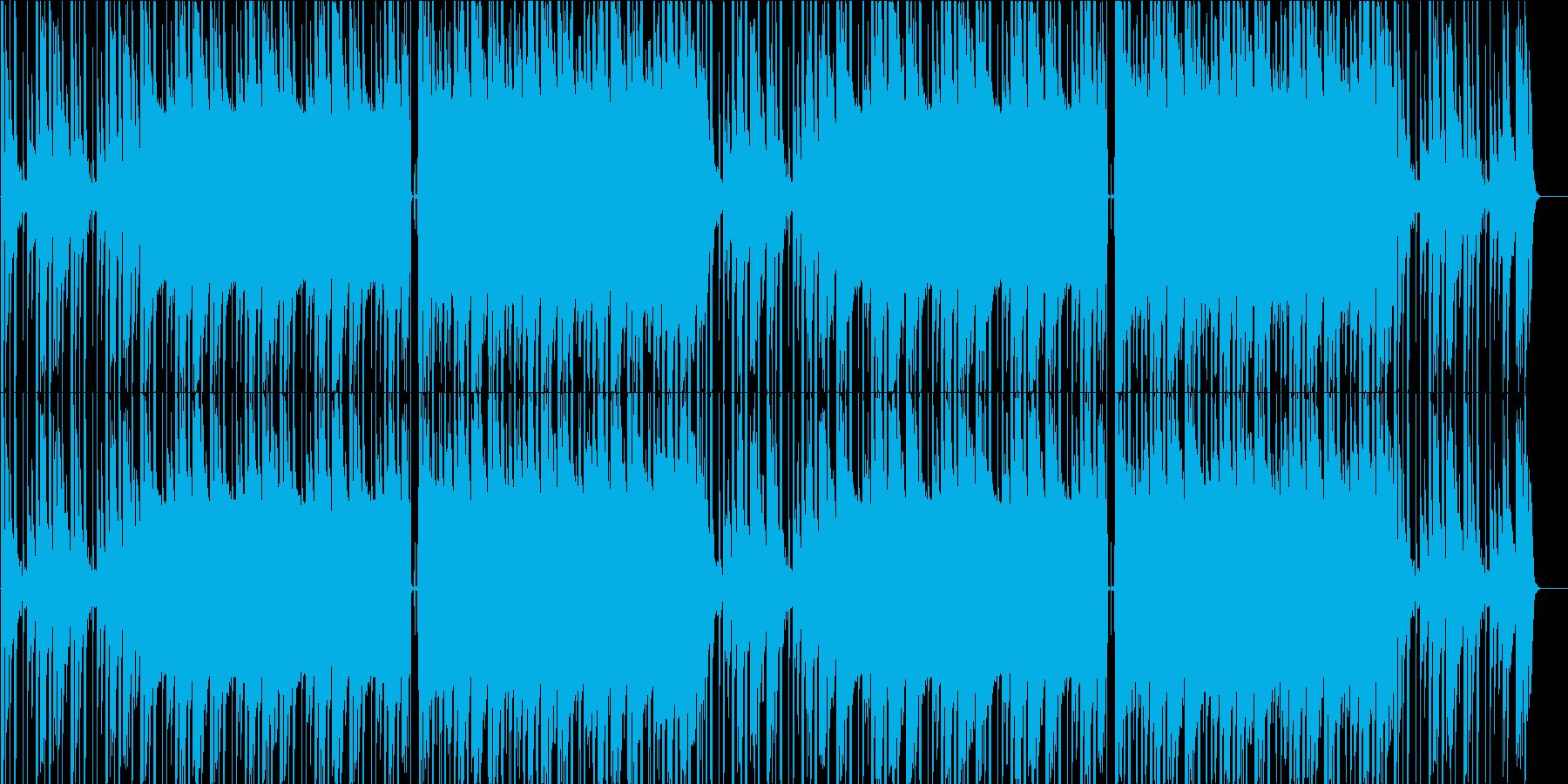 リラックスできるLO-FI曲の再生済みの波形