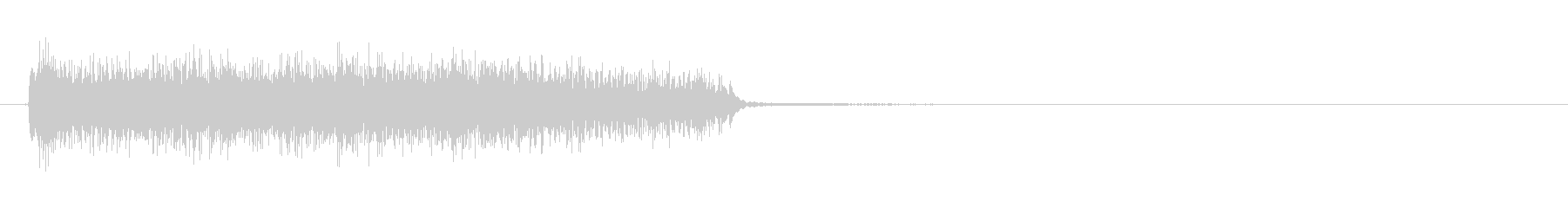 ジングル:エレキギターのズキューン1の未再生の波形