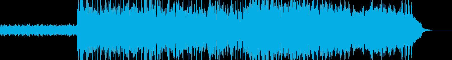 Future bass系EDMの曲の再生済みの波形